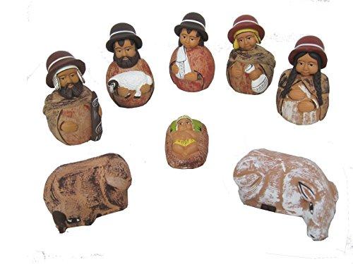 Discount ethnique – Crèche terre cuite Serrano Set H.10 cm