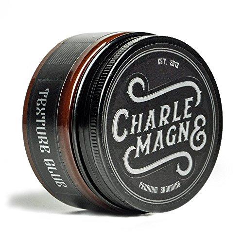 Charlemagne Premium Texture Glue - Mittlerer Halt - Matt Look Pomade - Mattes Haar-Wachs für Männer und Herren - 100ML - Fettet nicht - Styling Cream - Hair-Wax hergestellt in UK - Barbier Qualität