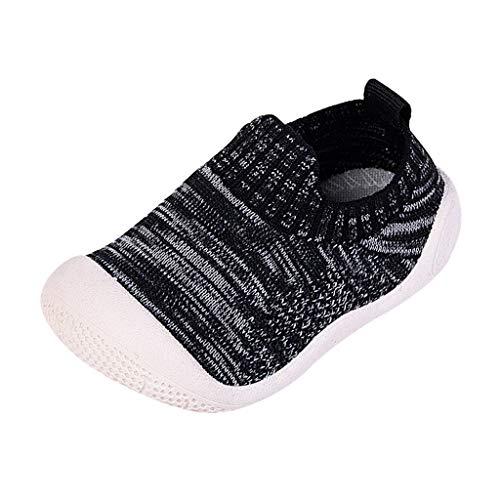 Likecrazy Infant Baby Mädchen Jungen Sport Sneakers Turnschuhe Atmungsaktiv Fliegendes Weben Schuhe Einzelne Schuhe mit Weiche Sohle Lauflernschuhe Hausschuhe