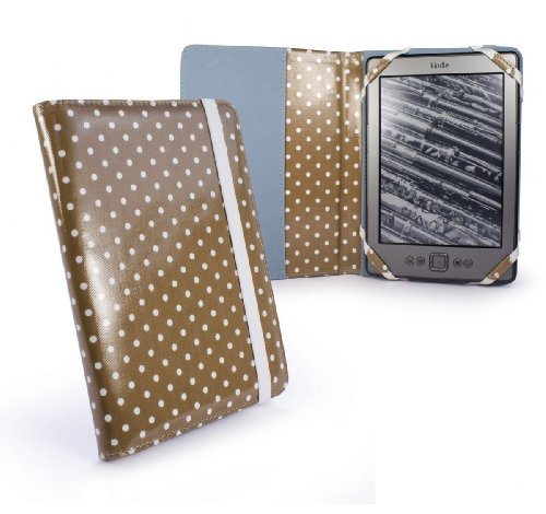 tuff-luv-slim-book-style-funda-de-tela-laminada-para-amazon-kindle-4-6-e-ink-beige-lunares