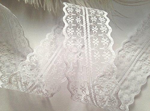 Sparkles Gems ® Vintage Stil, Spitze, Schleife, Band Bridal Wedding Zierrand, 47 mm weiß