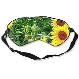 Augenmaske Vintage Field of Sunflowers Schlafmaske verstellbar atmungsaktiv Schlafmaske Augenmaske