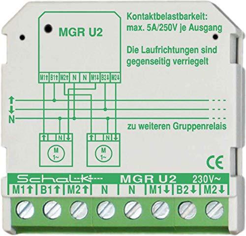 Schalk Motor-Gruppen-Relais MGR U2 230VAC,2W,5A Jalousiesteuerung 4046929401050