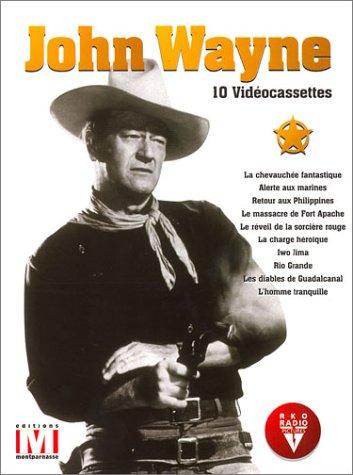 John Wayne : La Chevauchée fantastique / Alerte aux marines / Retour aux Philippines / Le Massacre de Fort Apache / Le Réveil de la sorcière rouge / La Chasse héroïque / Iwo Jima / Rio Grande / Les Diables de Guadalcanal / L