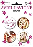 PYRAMID POSTERS - Plaque de 4 Badges 38 mn AVRIL LAVIGNE