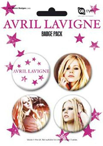 Pyramid Poster–Plaque de 4badges 38MN April Lavigne