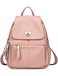 b144671978 Ghlee Girls Leather Backpack College Style Large Capacity School Bag