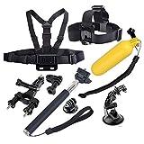 Gabbia di protezione della custodia YKD -136 8 in 1 Holder toracica Strap + Head + manubrio della bici + ventosa Holder + manico allungabile di monopiede + Floating maniglia Grip Set for GoPro HERO NU