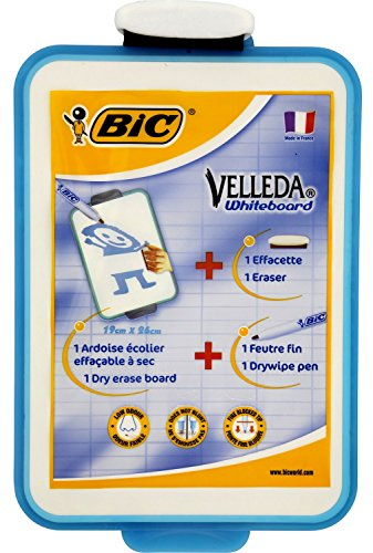 bic-velleda-19x26cm-single-sided-whiteboard-with-pen-and-eraser-pad