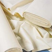 Forro para cortinas polialgodón de sarga Weave luz crema disponible, por metro