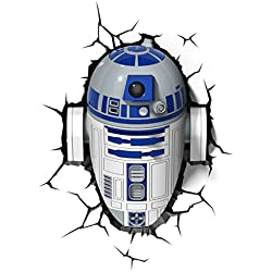 3D Light Fx 02063 Star Wars Ep7 R2D2 Lampada Led con Timer, Plastica, Multicolore, 28 x 17 x 34 cm, a pile