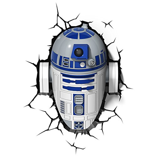3D Light FX 816733020631 50031 Star Wars R2D2 3D Deco Light, Plastic, White/Blue