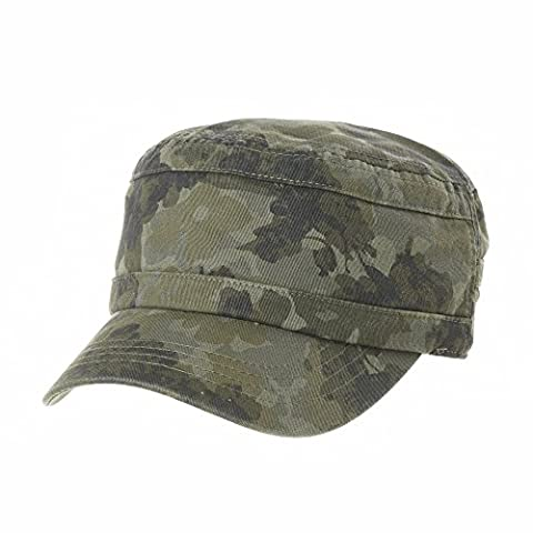 WITHMOONS Militaire Casquette de Baseball Cadet Cap Floral Camouflage US Army Patch Military Hat CR4641 (Green)