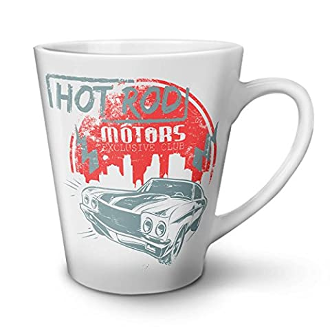 Hot Rod Vintage Sport Car Exclusive White Ceramic Latte Mug 12 oz | Wellcoda