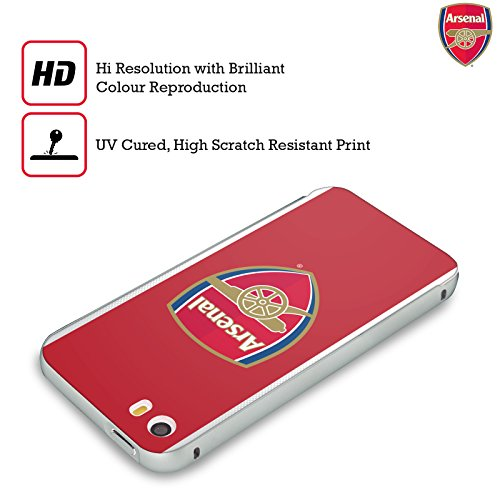 Ufficiale Arsenal FC Away 2017/18 Kit Crest Argento Cover Contorno con Bumper in Alluminio per Apple iPhone 5 / 5s / SE Home