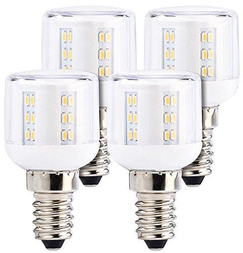 Luminea LED Mais: Mini-LED-Kolben, E14, A++, 3W, 360°, 260 lm, warmweiß, 4er-Set (Kühlschrank Birnen) -