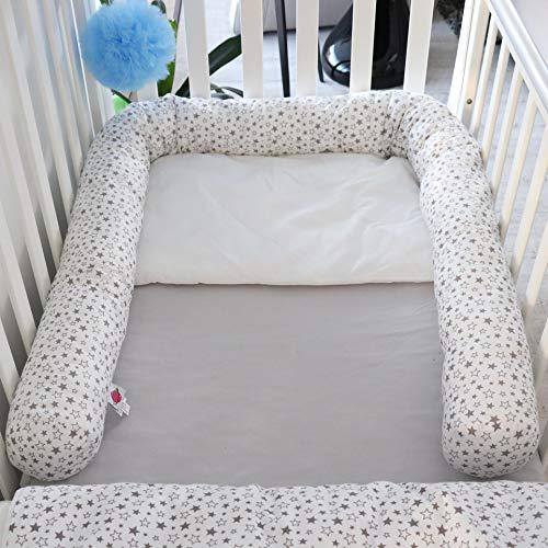 babymajawelt® Bett Nestchen Schlange, Seitenschläferkissen 210 cm, Zugluftstopper, Nestchen für Babybett (Sterntaler)