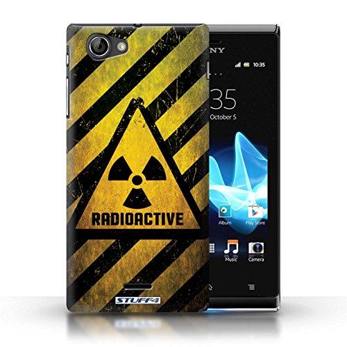 Coque de Stuff4 / Coque pour Sony Xperia J (ST26i) / Décès/Faucheuse Design / Signes de Danger Collection Radiation