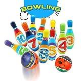 YP Bowling Kegelspiel Kinder Bowlingkugel Bowling Set pädagogische interaktive Spielzeug 2 Bälle und 10 Bowlingkugel