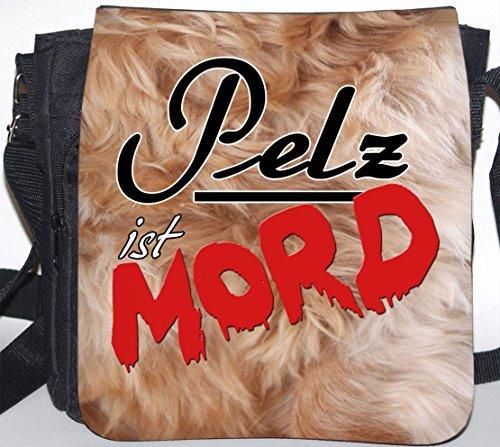 +++ PELZ ist MORD - SCHULTERTASCHE Umhängetasche Tasche TAS/BAG - VEGAN 37