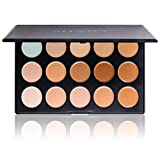 SHANY Cosmetics Cream-Foundation und Camouflage-Concealer, 15 Farbtöne