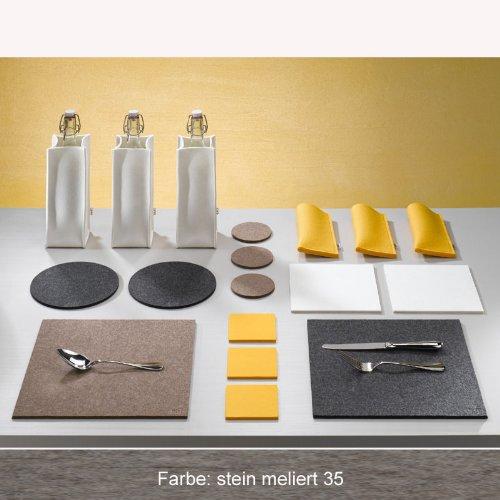 Filz Untersetzer 20cm x 20cm quadratisch stein mel. Daff