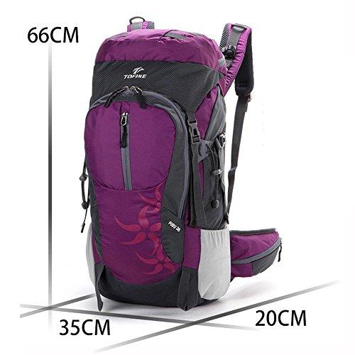ALUK-arrampicata all'aperto zaino trekking borsa a tracolla borsa da viaggio zaino leggero impermeabile neutro Rose Red