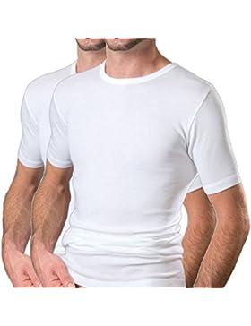HERMKO 16800 2er Pack Herren Business kurzarm Unterhemd angenehm weich Dank Modal