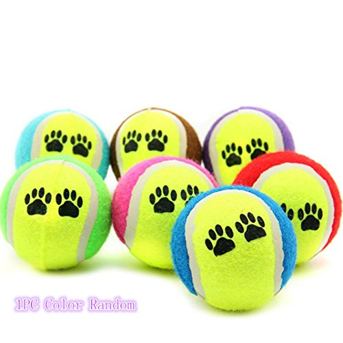 VENMO Pet Cat Dog Balls, Bouncy Tennis Balls for Dog Cat Chew Catch Throw Play Funny Toy Training 1PC Color random