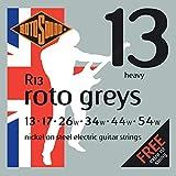 Rotosound Roto Greys Jeu de cordes pour guitare électrique Nickel Tirant heavy (13 17 26 34 44 54) (Import Royaume Uni)