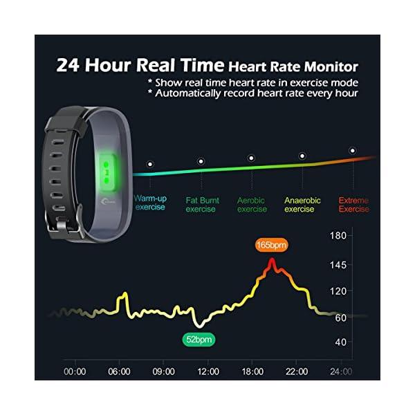 LATEC Pulsera Actividad, Pantalla de Color Pulsera Inteligente Impermeable IP68 con Visualización del Tiempo 14 Modos de… 4