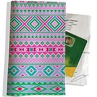 Porte ordonnance et carte vitale Motif Graphique vert et rose réf. 2514
