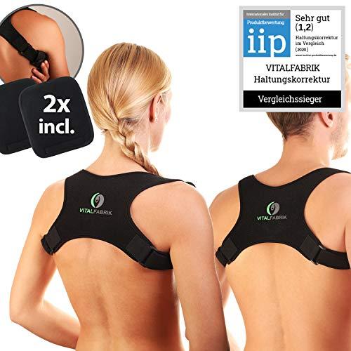 VITALFABRIK rückenstütze rückenstabilisator geradehalter haltungskorrektur rücken Damen Schultergurt rückenbandage rückenschmerzen schulterbandage haltungstrainer rückenstützgürtel haltungstrainer