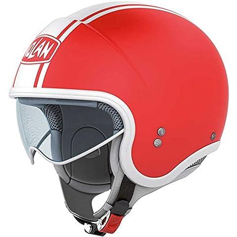 Nolan N21 Caribe Jethelm, Farbe rot-weiss, Größe L (59/60)