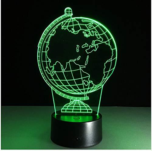 Nueva Ilusión 3D Lámpara De Noche Decorativa Creativa Globo Terráqueo Atmósfera Diy Bombillas Usb Luz De Noche De Fiesta Usb Con Cambio De 7 Colores