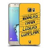 Head Case Designs Winners Train Fitness Motivation Soft Gel Hülle für Samsung Galaxy S6 Edge+ / Plus