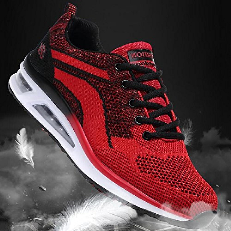 YIXINY Schuhe Sneaker Herbst und Winter Herrenschuhe Sportschuhe Atmungsaktiv Lässig mit Spitzen Laufschuhe Grau