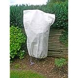 HI Housse de protection pour plantes d'extérieures à utiliser en hiver Fibre non-tissée Env. 1,20 x 1,80 m