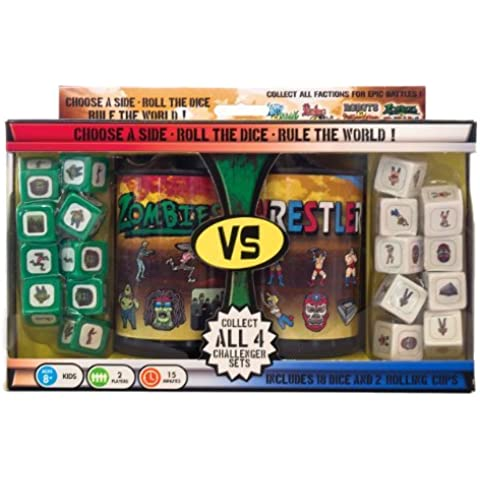 Zombies vs. Wrestlers Dice Game by Wiggles 3D