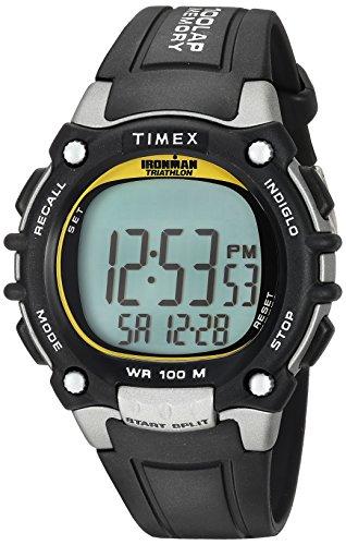 Timex Ironman Herren 100Lap Flix, Herren, Black/Yellow Highlights