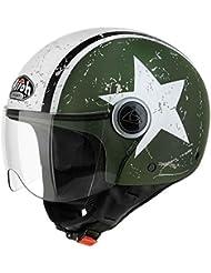 Casco Jet Airoh COMPACT SHIELD Verde Mate