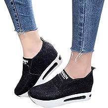 Zapatillas de Running para Mujer,JiaMeng Zapatos onales Planos y Gruesos para el Fondo sin