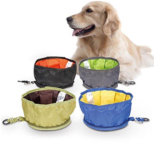 Zantec Haustier Hundebewegliche Futterschale im Freien wasserdichter faltbarer Lebensmittelbehälter