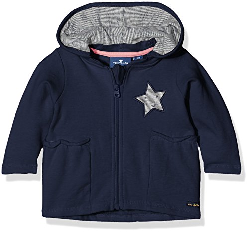 TOM TAILOR Kids Baby-Mädchen Sweatshirt Detachable Hood Jacket, Blau (Black Iris Blue 6740), 74