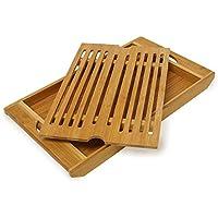 Relaxdays - Tagliere in Bambù con Griglia,