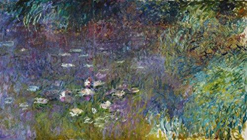 "Stampa artistica / Poster: Claude Monet ""Les Nympheas"" - stampa di alta qualità, immagini, poster artistici, 95x55 cm"