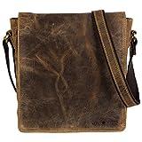 Greenburry Vintage Aktentasche Leder Schultertasche Braun 22x6x27cm Bürotasche Büchertasche
