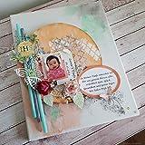 Individuelles Leinwandbild Mixed Media Art Gemälde m. Foto Leinwand Bild Wanddeko Taufgeschenk Geschenk zur Taufe Patenkind Mädchen Handarbeit binnbonn