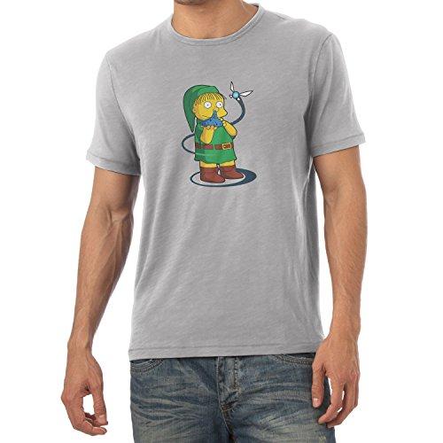 NERDO - Nose Flute - Herren T-Shirt Grau Meliert
