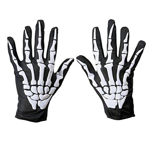Amcool Halloween Goth Skeleton Handschuhe Racing Full Finger Handschuhe (Kostüme Halloween Racing)